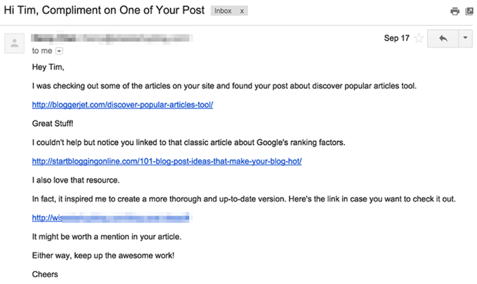 how to craft the perfect outreach email for link building